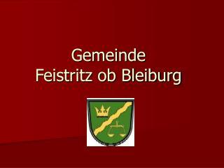 Gemeinde Feistritz ob Bleiburg