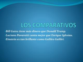 LOS COMPARATIVOS