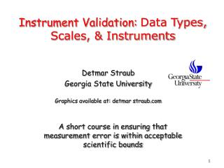 Instrument Validation:  Data Types, Scales, & Instruments