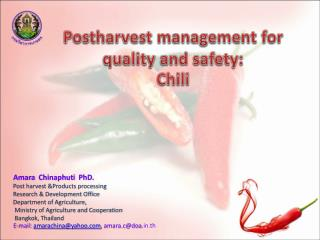 Postharvest management for quality and safety: Chili