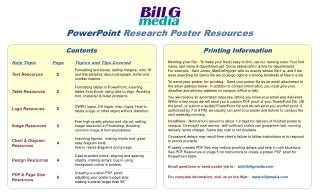 Bill G Media\'s Poster Resources for PPT 2003