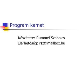 Program kamat
