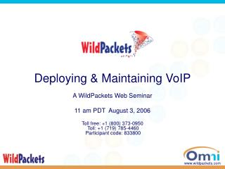 Deploying & Maintaining VoIP