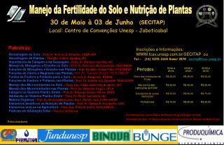 Manejo da Fertilidade do Solo e Nutrição de Plantas