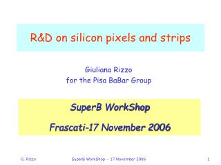 R&D on silicon pixels and strips