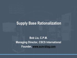 Supply Base Rationalization