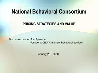 National Behavioral Consortium