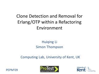 Clone Detection and Removal for Erlang/OTP within a Refactoring Environment