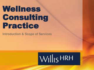 Wellness Consulting Practice