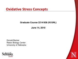Oxidative Stress Concepts