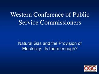Western Conference of Public Service Commissioners