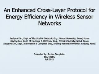 An Enhanced Cross-Layer Protocol for Energy Efficiency in Wireless Sensor Networks