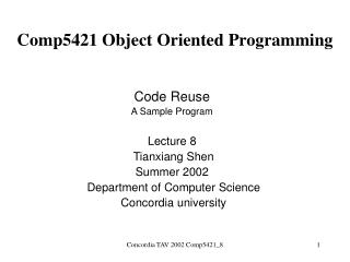 Comp5421 Object Oriented Programming