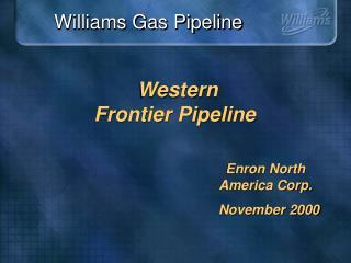 Western  Frontier Pipeline