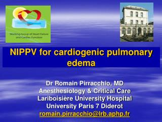 NIPPV for cardiogenic pulmonary edema