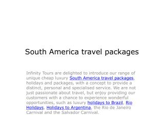 South America Travel Pakages