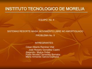 INSTITUTO TECNOLOGICO DE MORELIA