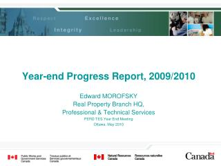 Year-end Progress Report, 2009/2010