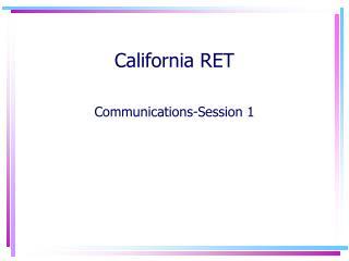 California RET