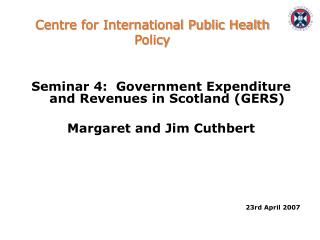 Centre for International Public Health Policy