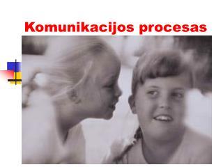 Komunika cijos  procesas