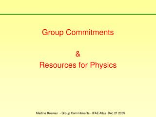 Group Commitments