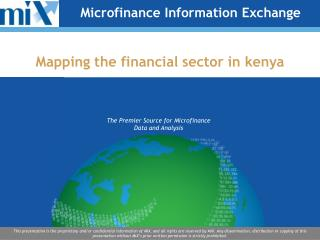 Mapping the financial sector in kenya