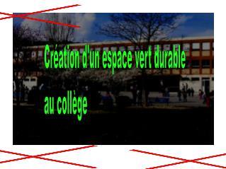 Création d'un espace vert durable au collège