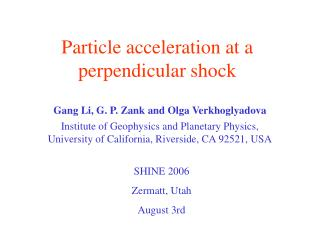 Particle acceleration at a perpendicular shock