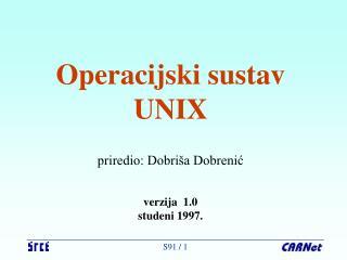 Operacijski sustav UNIX