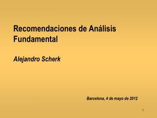 Recomendaciones de Análisis Fundamental