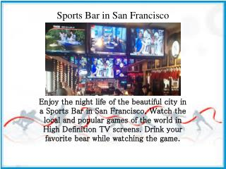Sports Bar in San Francisco