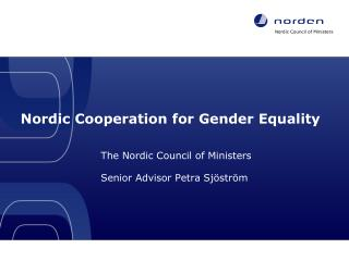 Nordic Cooperation for Gender Equality