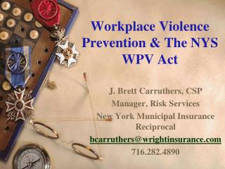 Workplace Violence Prevention & The NYS WPV Act