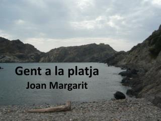 Gent a la platja Joan Margarit