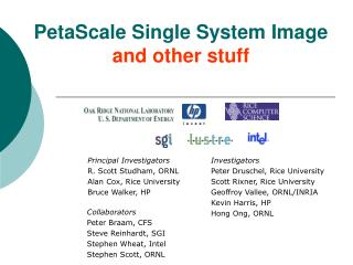 PetaScale Single System Image and other stuff