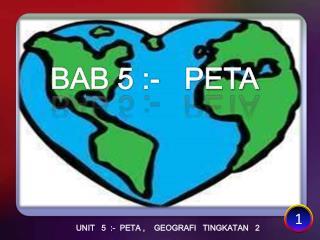 UNIT   5  :-  PETA ,    GEOGRAFI   TINGKATAN   2