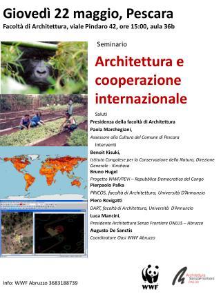 Architettura e cooperazione internazionale