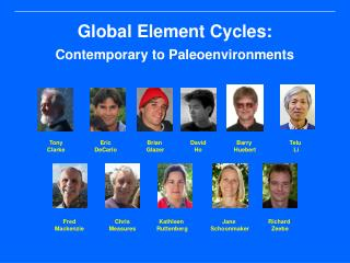 Global Element Cycles: Contemporary to Paleoenvironments