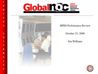 HPIIS Performance Review  October 25, 2000  Jim Williams