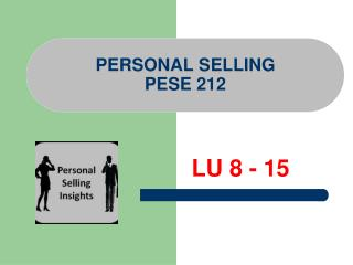 PERSONAL SELLING  PESE 212