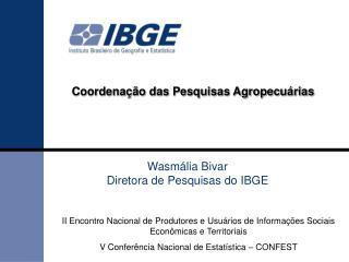 Coordenação das Pesquisas Agropecuárias