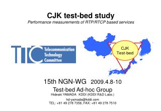 CJK test-bed study Performance measurements of RTP/RTCP based services