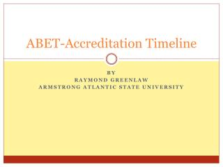 ABET-Accreditation Timeline