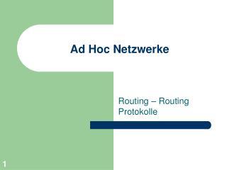 Ad Hoc Netzwerke