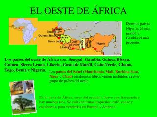EL OESTE DE ÁFRICA