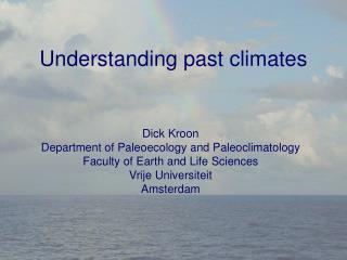 Understanding past climates