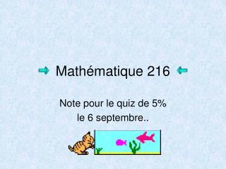 Mathématique 216