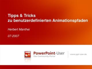 Tipps & Tricks zu benutzerdefinierten Animationspfaden
