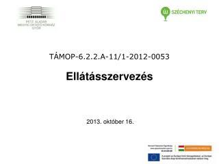 TÁMOP-6.2.2.A-11/1-2012-0053 Ellátásszervezés